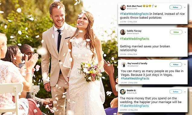 Twitter users are sharing funny 'fake wedding facts' - Hot