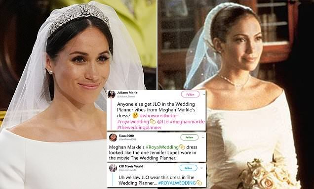 Meghan Markle\'s wedding dress being compared to Jennifer Lopez movie ...