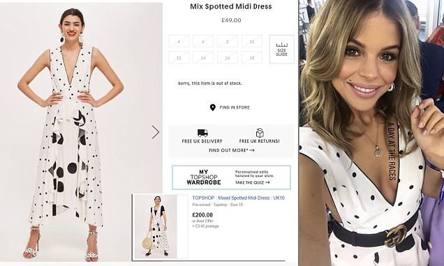 a50c1ebe2c8e Topshop's £49 polka dot dress is selling for as much as £200 on eBay - Hot  World Report