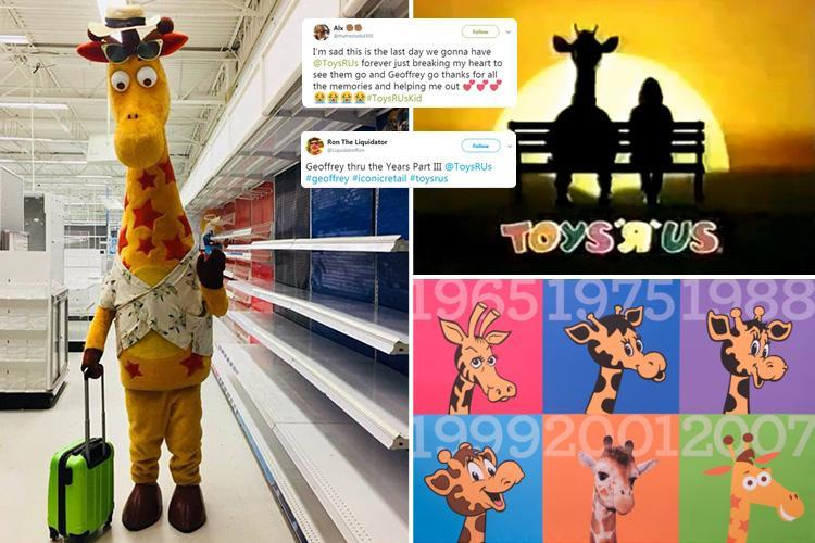 Heartbreaking Moment Suitcase Carrying Geoffrey The Giraffe Leaves Toys R Us For The Final Time Hot World Report