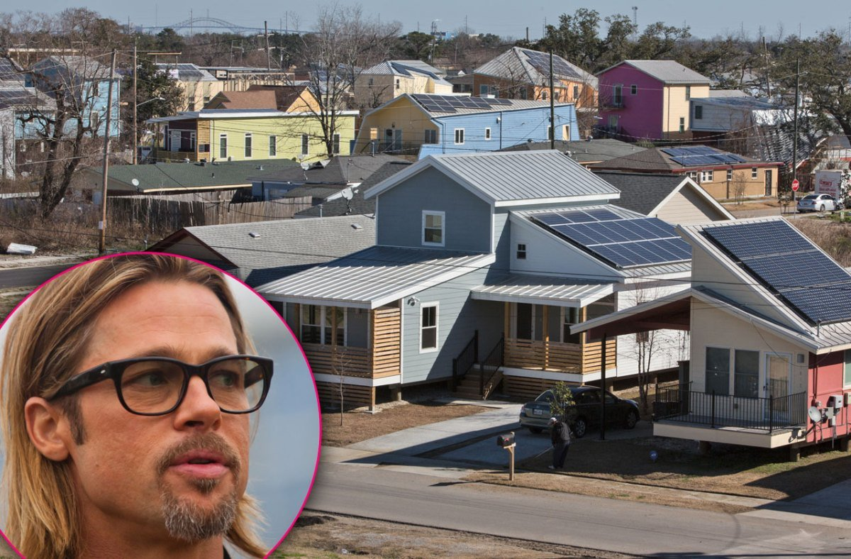 How Brad Pitt helps build houses for disaster victims