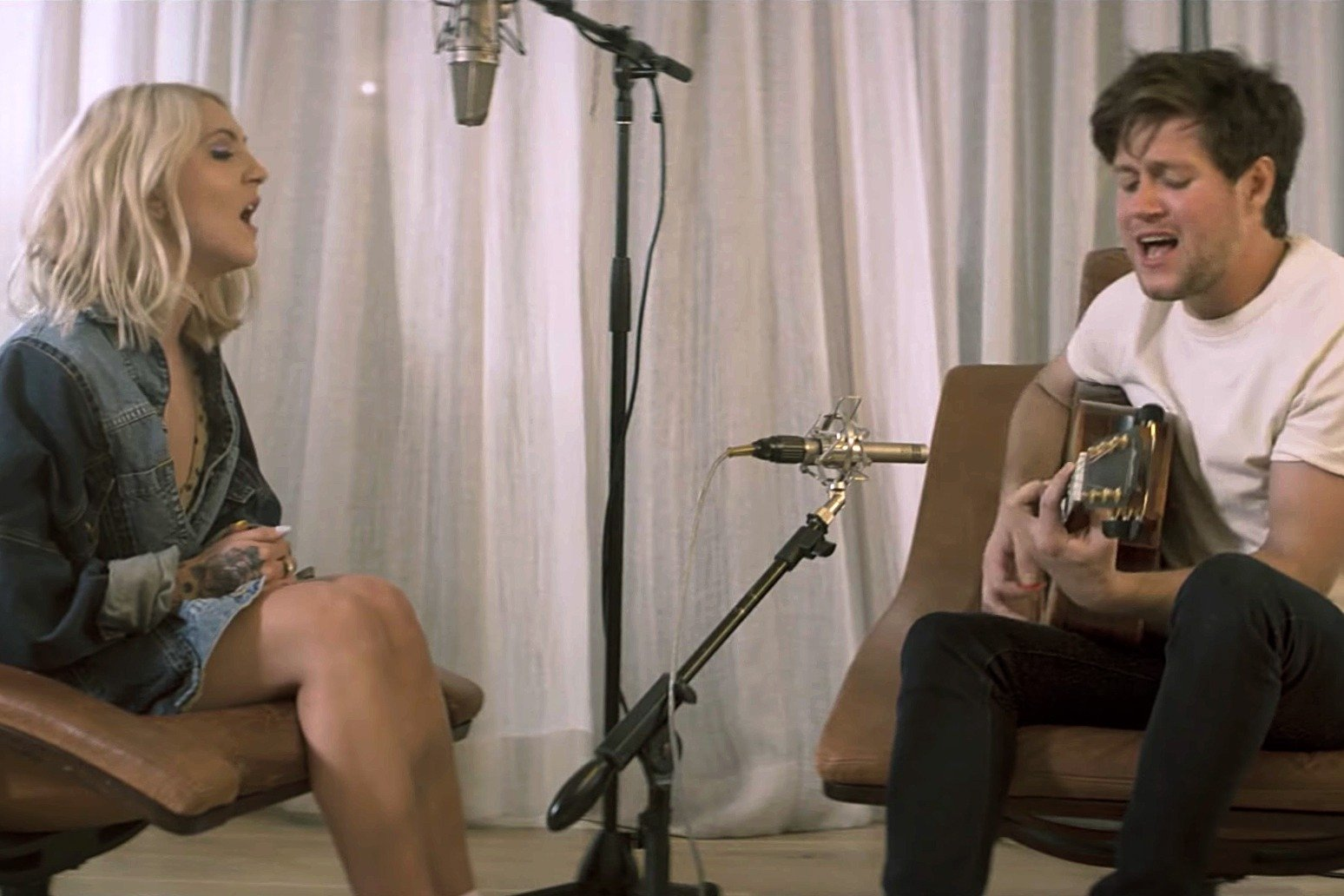 Niall Horan Look Alike Porn julia michaels and niall horan's acoustic 'what a time