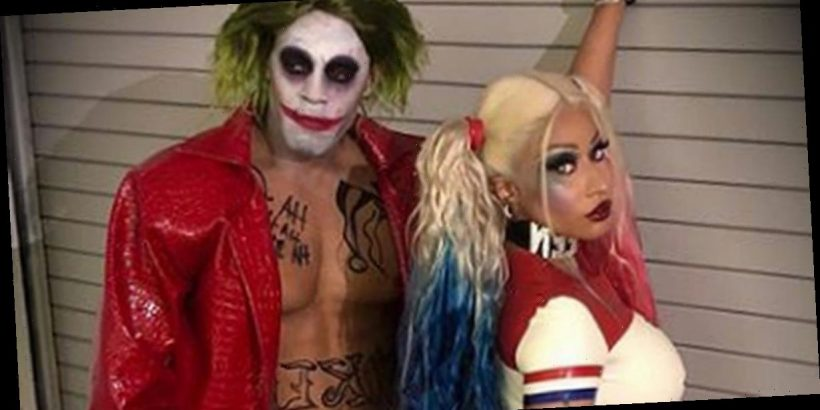 Nicki Minaj flaunts booty in racy Harley Quinn Halloween ...Nicki Minaj Pasties Halloween