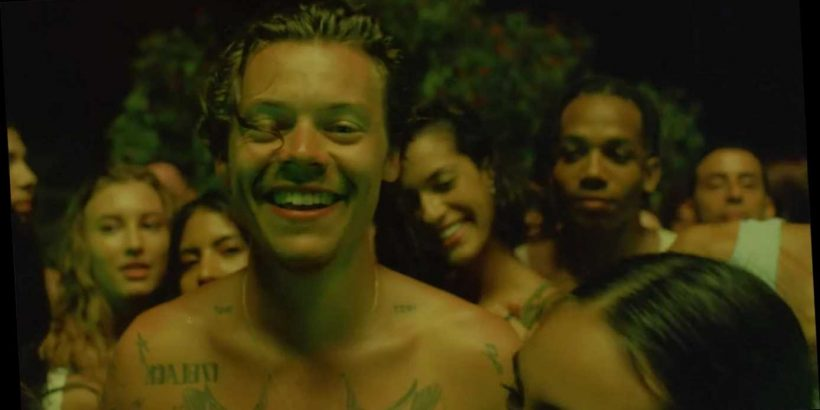 Harry Styles strips naked in steamy video for new single