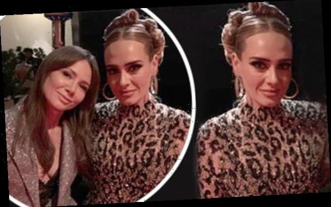 Adele displays seven stone weight loss in sparkly leopard ...