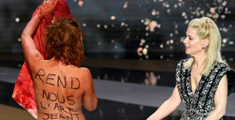 French Actress Ditches Blood-Stained Dress & Donkey Suit
